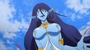 Magi: The Labyrinth of Magic Paimon Djinn ecchi breasts
