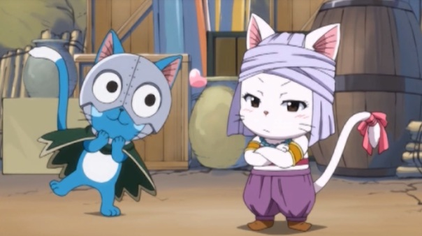 Fairy Tail Part 07 06 Happy Carla