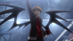 High School DxD 32 Issei boosted gear demon wings