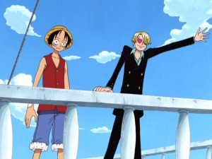 One Piece 06 - 05 Luffy Sanji