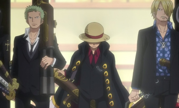 One Piece Movie 10 Strong World 09 Luffy Roronoa Zoro Blackleg Sanji