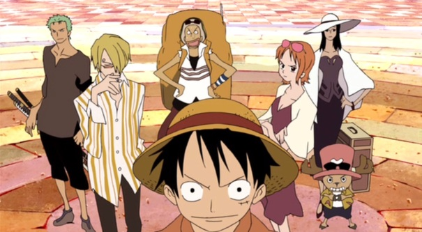 One Piece movie 6 Baron Omatsuri 03 Luffy Zoro Usopp Nami Tony Chopper Robin Sanji