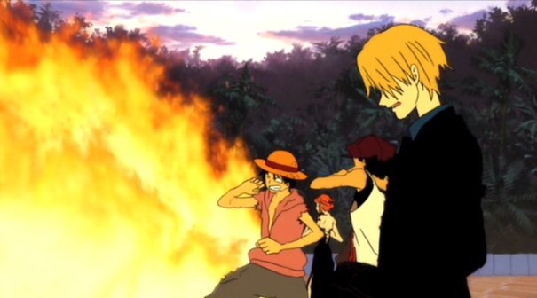 One Piece movie 6 Baron Omatsuri 06 Luffy Nami Usopp Sanji