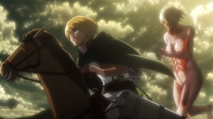 Attack on Titan Part 02 05 abnormal female titan Armin