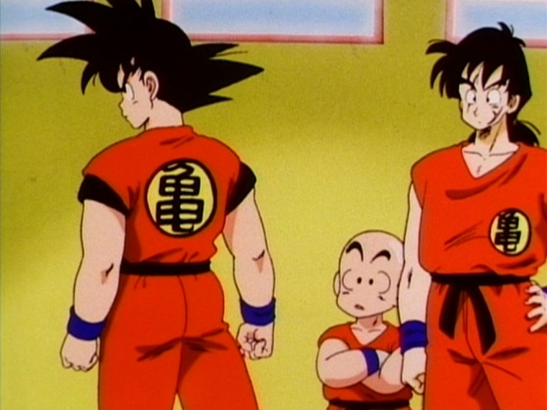 You can actually see Krillin losing all hope that he might just be a late bloomer.