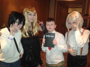 Pictured- Chloe, Tia, Adam and Lulu Anime Dublin