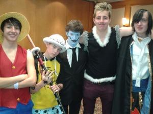 Pictured- Sam, Tarla, Xavier, Finnian, Fionn Anime Dublin