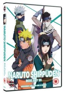 Naruto Box Set 21 DVD cover